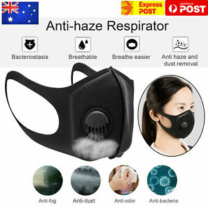 Premium-Anti-Air-Pollution-Face-Mask-Respirator-amp-Filters-Washable-AUS-SHIP