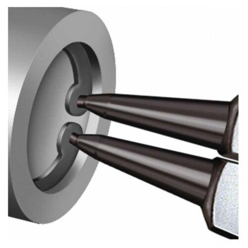 KNIPEX® Sicherungsringzange gerade J0 grau atramentiert