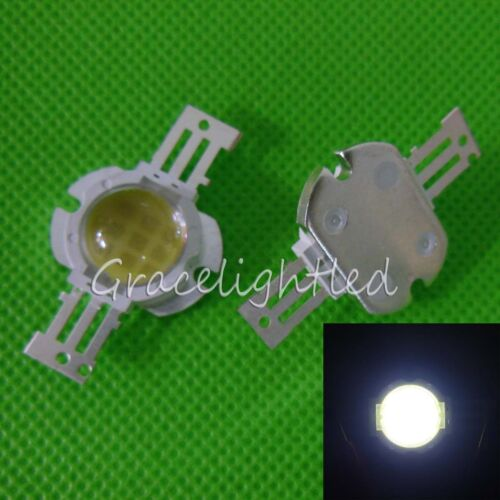 1pc 10W High Power Cool white 6000-6500K LED Bead lamp chip with 60 degree len