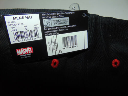 DEADPOOL Movie Assassin MARVEL gun COMIC Book Cable New MEN/'S Snapback Hat CAP