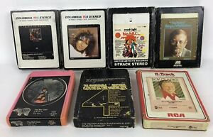 EASY-LISTENING-Lot-Of-7-8-Track-Tapes-Streisand-Bee-Gees-Kenny-Rogers-Etc