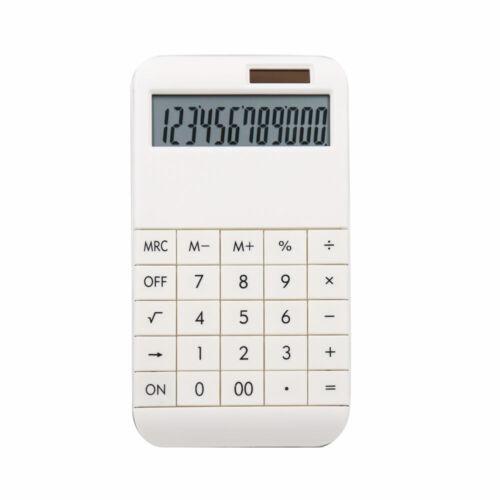 weiß 19 x 10 x 1,2 cm Taschenrechner mit Standardfunktionen