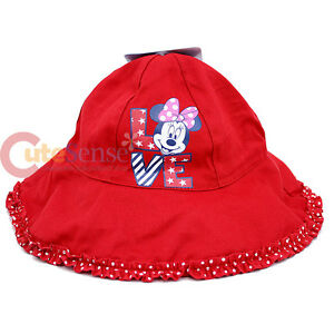 0642962424f Disney Minnie Mouse Toddler Bucket Hat Cap - Red Polka Dots Love ...