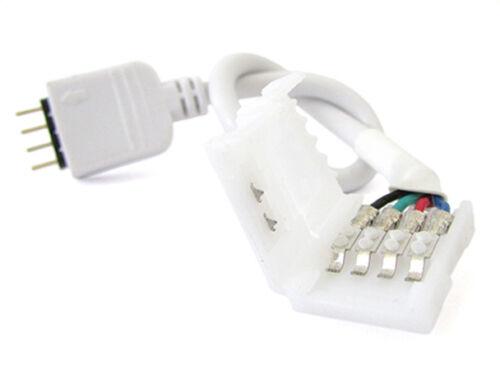 2 PZ Connettori Spina Maschio Con 4 Pin Morsetto Da 10mm RGB Per Chiudere Strisc