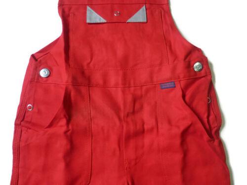 Arbeitshose Rot 100/% Baumwolle Kinder Latzhose Bücking