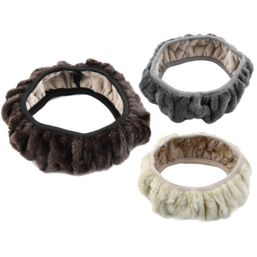 Charm Warm Winter Short Wool Plush Steering Wheel Cover for Car LO