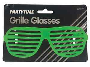 Neon Glasses 1990/'s Specs Men/'s Fancy Dress Costume Accessory Prop
