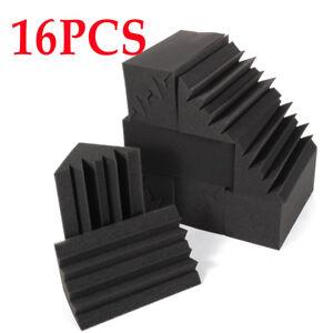 Bass-Soundproof-Acoustic-Noise-Trap-Studio-Corner-16x-Treatment-Foam-Sponge-UPS