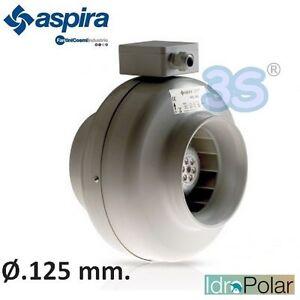 343 m3//hr NEW ASPIRATORE ARIA CENTRIFUGO IN LINEA AKL125 ASPIRA FANTINI COSMI