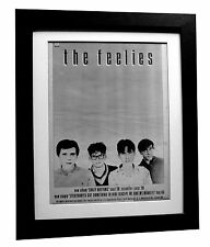 THE FEELIES+Crazy Rhythms+POSTER+AD+RARE ORIGINAL 1980+FRAMED+FAST GLOBAL SHIP