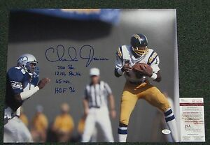 Charlie-Joiner-Signed-Auto-Chargers-16-X20-Action-Photo-W-4-Inscriptions-JSA