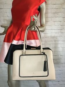 2c9c182e1 NWT Authentic KATE SPADE Large Evangelie Ward Place Soft LEATHER Zip ...
