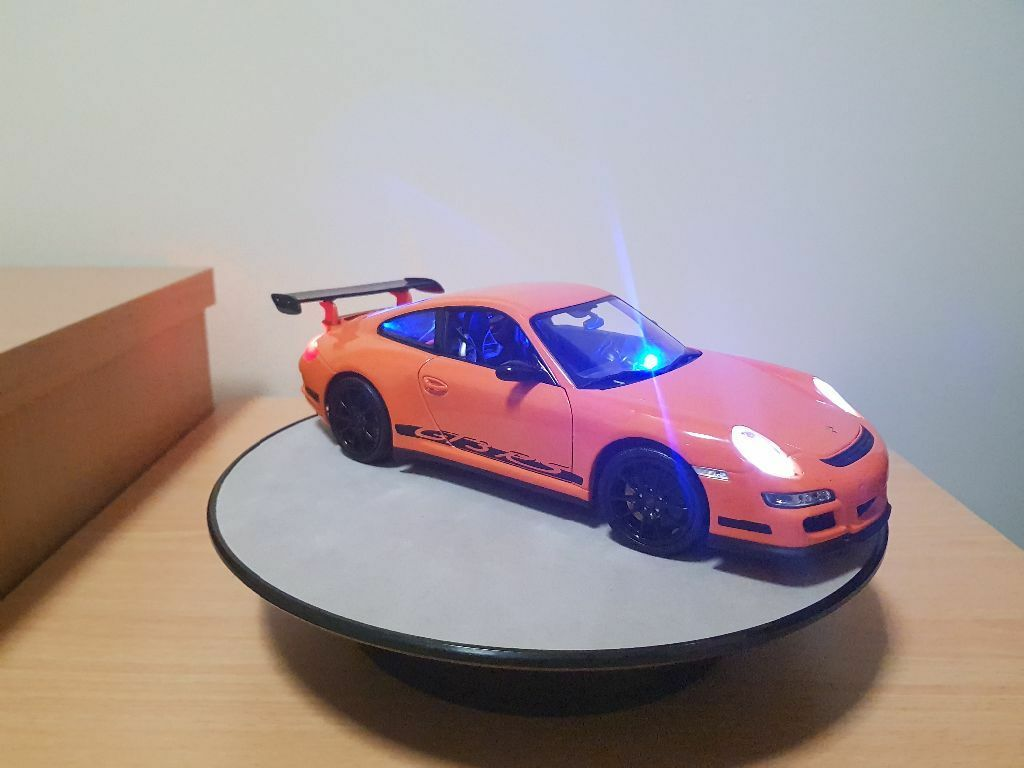 1 18 Porsche GT3 RS orange unmarked police with LED lights
