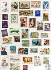 MALTA   COUNTRY IN EUROPE 100 DIFFERENT THEMATIC USED LARGE GENUINE STAMPS
