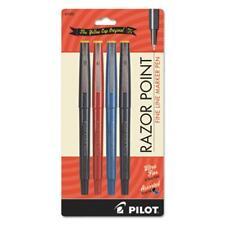 Razor Point Fine Line Marker Pens 03 Mm Pen Point Size Black Blue Red Ink