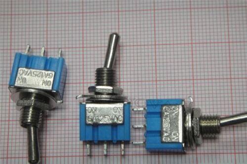 2 Stücke Mini MTS-102 3-Pin Spdt On-On 6A 125Vac Kippschalter ix