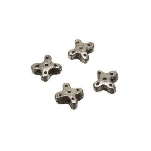 Small Antique Silver Metal Dotted Cross Spacer Bead 6mm Pack of 4 C84//5