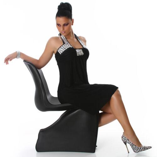 Dress Doux Sexy Strass l S Taille Maxi Chic Noir m Txv1w