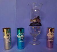 Glassware Las Vegas Hard Rockcafe Casino Souvenir Glass Hurricane & Shot Glasses