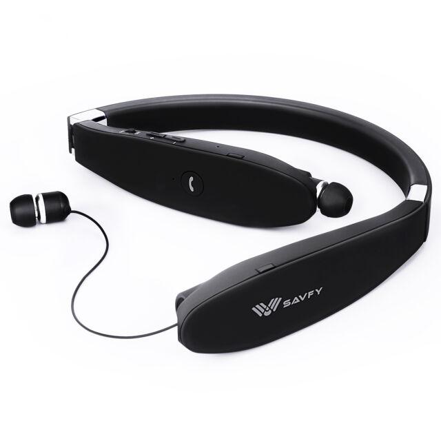 Savfy Ecouteur Casque pliable Bluetooth 4
