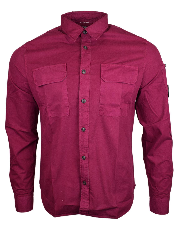 CP Company Arm Linse Doppel Tasche Hemd purple Neu mit Etikett