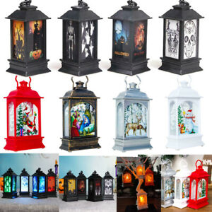Halloween-Christmas-Home-LED-Candle-Santa-Claus-Snowman-Xmas-Tree-Hanging-Decor