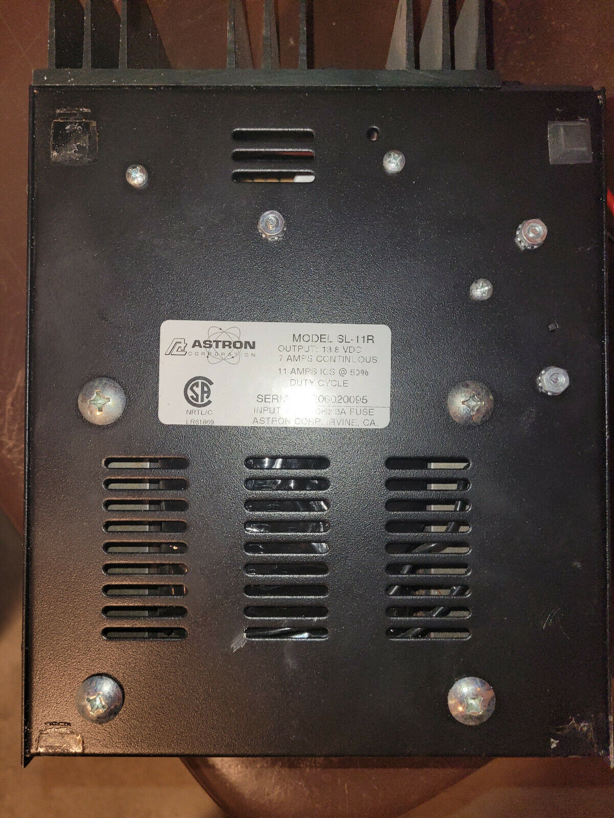 Astron SL-11R Compact Table Top 11 Amp Regulated DC Power Supply Working. Available Now for 49.99