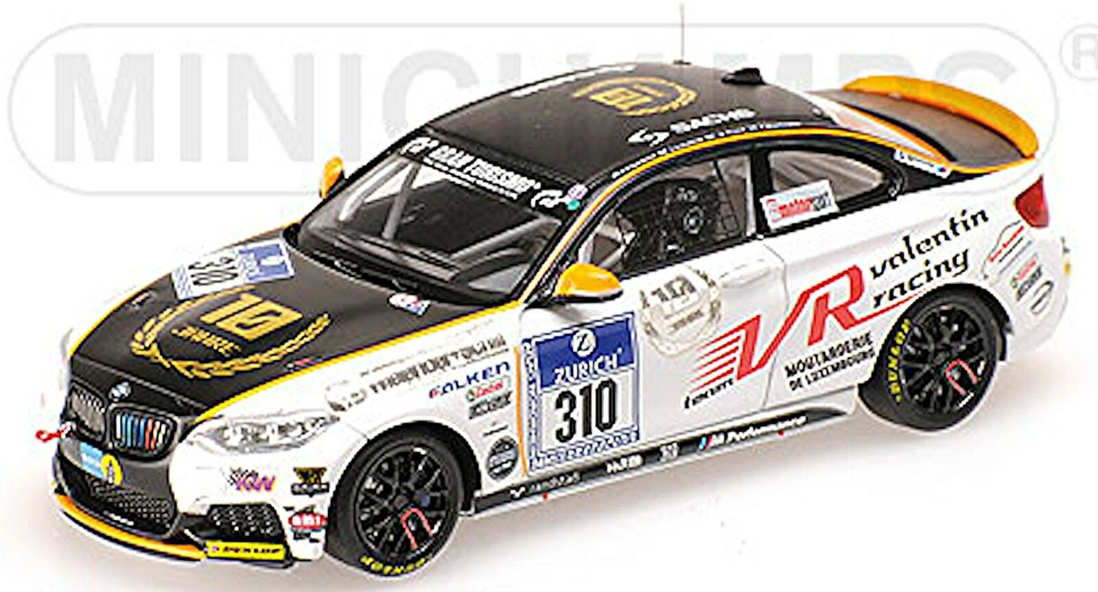 Bmw m 235i racing 24h nurburgring 2014 Team valentin racing  43 Minichamps