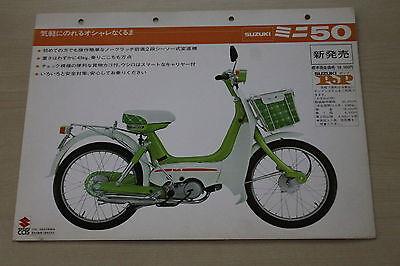 170036) Suzuki 50 Mini - Japan - Prospekt 197? Geschickte Herstellung