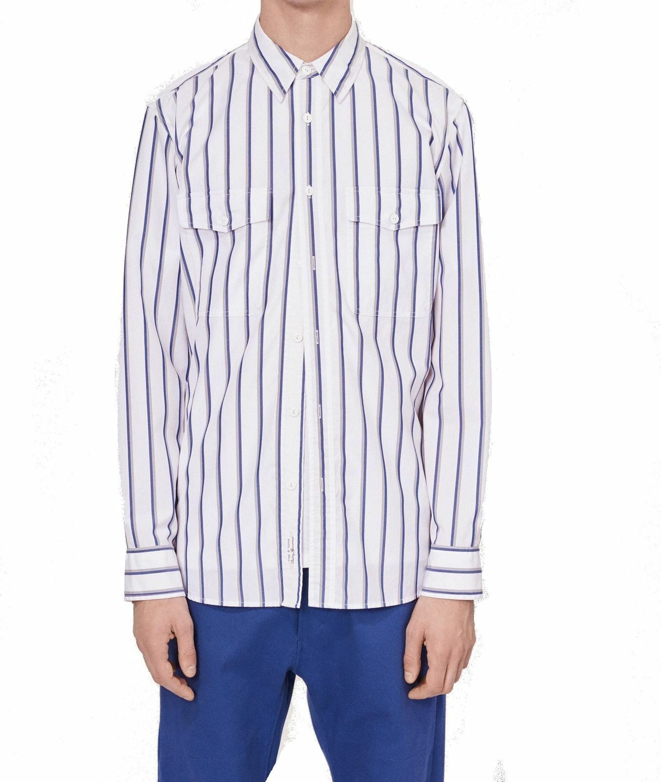 Rag & Bone NEW White bluee Stripe Mens Size Small S Button Down Shirt
