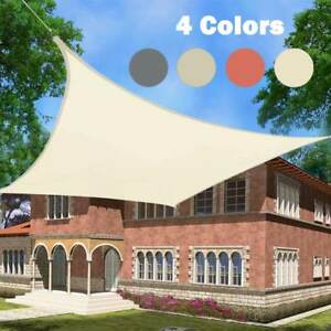Image is loading Sun-Shade-Sail-98-UV-Garden-Patio-Sunscreen- & Sun Shade Sail 98% UV Garden Patio Sunscreen Awning Canopy Screen ...