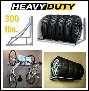 Image Is Loading Wall Mount Tire Rack Garage Organizer Wheels Storage