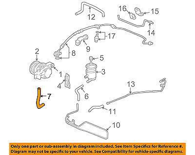 Acura 53731-S3V-A00 Power Steering Reservoir Line Hose