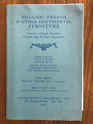 English French Continental Furniture Parke Bernet Auction Catalog Nov 18 1967 Ebay