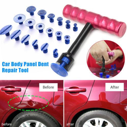 18Pcs T-Bar Car Body Panel Paintless Dent Removal Repair Lifter Tool+Puller Tabs