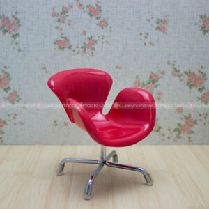 Dolls & Stuffed Toys Mini Egg Chair Armchair Backrest Swivel Toy For Dolls Barbie Blythe Dollhouse Miniatures 1:6 Purple And To Have A Long Life.