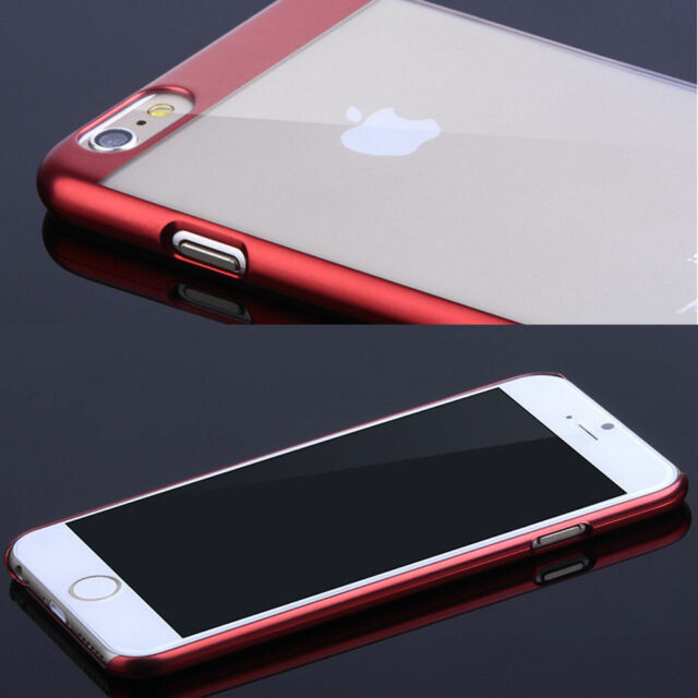 Luxury Ultra thin Electroplate Metal Clear Case back cover for iPhone6/6s/Plus