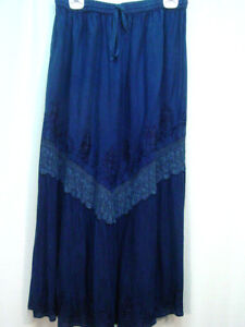 Skirt-Navy-blue-Old-West-Pioneer-Boho-Victorian-Edwardian-Ren-Faire-one-size