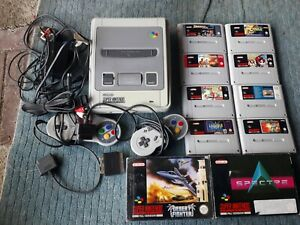 Super-Nintendo-SNES-console-bundle-job-lot-with-games-tested-and-working