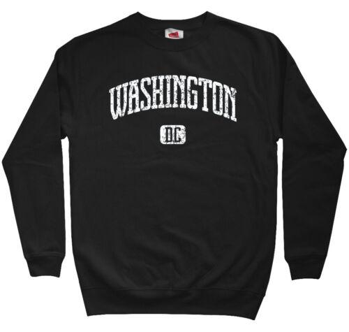 Washington DC Sweatshirt Crewneck Nationals Capitals USA DCA IAD 202 Men S-3XL