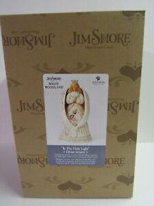Jim-Shore-White-Woodland-Nativity-Angel-6005250-In-Thy-Holy-Light-MIB