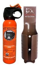 UDAP Bear Spray Safety Orange With Color Griz Guard Holster Black