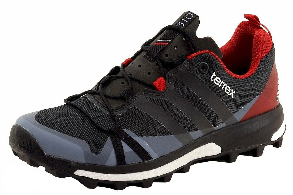 Adidas Herren Terrex Agravic Grau Schwarz Rot Traillauf Turnschuhe