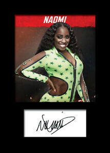 NAOMI #3 (WWE) Signed Photo A5 Mounted Print - FREE DELIVERY