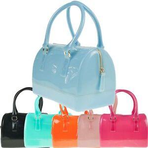 Ladies-Designer-Jelly-Patent-PU-Glitter-Handbag-Shoulder-Bag-Doctor-Bag-K005