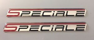 2-x-SPECIALE-Stickers-Decals-Red-Flash-HIGH-GLOSS-DOMED-GEL-FINISH