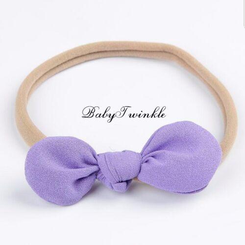 Baby Headbands Girls Newborn Infant Sweet 4x Set Toddler Girl Hair Band Knot Bow