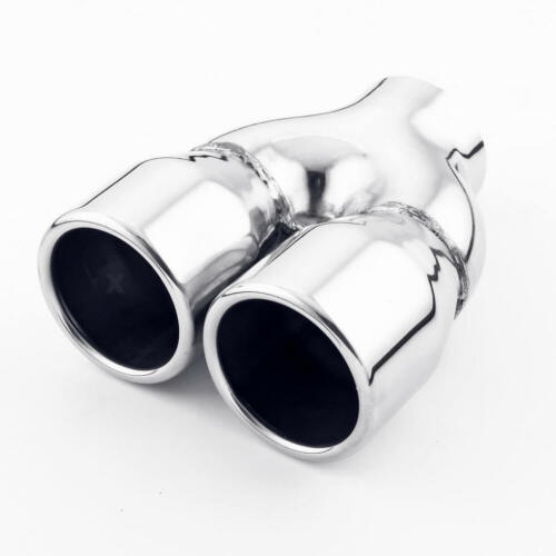 Dual Straight Cut 3 inch Rolled Outlet 2 1//2 Inlet Exhaust Tip Stainless Steel