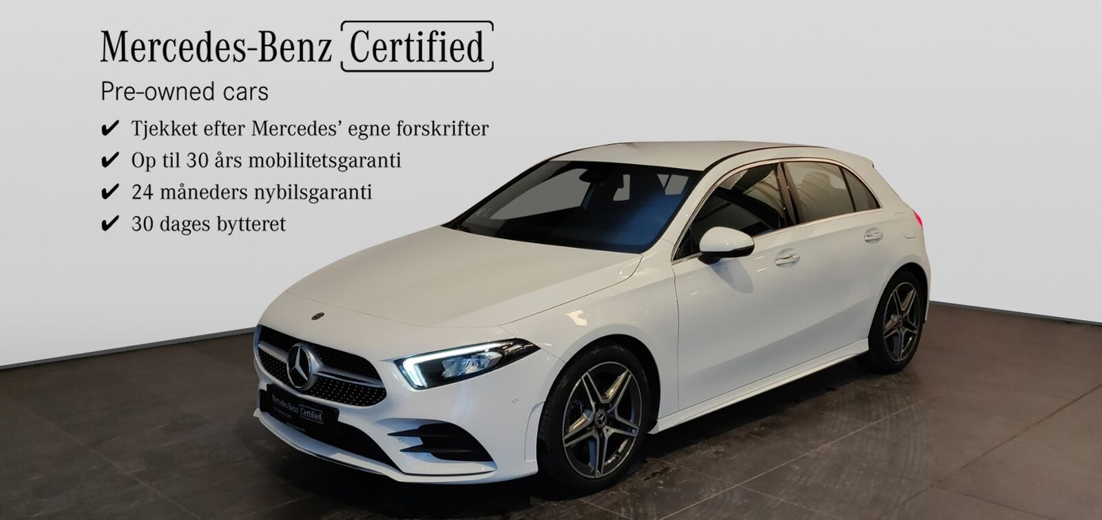 Mercedes A220 2,0 Advantage AMG aut. 4-M 5d - 399.900 kr.
