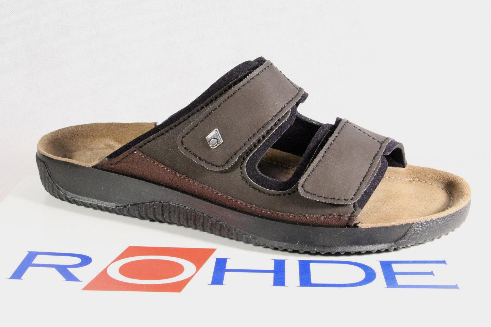 Rohde SANDALO UOMO pantofole zoccoli Marrone 1982 NUOVO